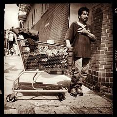 Homeless in the Castro - SF (James Gilligan) Tags: sf sanfrancisco square homeless castro squareformat sanfran hefe iphone inthecastro endhomelessness homelessinsf pushingacart iphoneography hipstamatic collectingcansandbottles instagramapp homelessincalifornia pushingashoppingcart gottaeatsomehow homelessinthecastro thehomelesspool