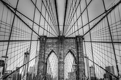 Lattice (JB_1984) Tags: nyc newyorkcity bridge blackandwhite bw usa ny newyork brooklyn river unitedstates dumbo brooklynheights brooklynbridge eastriver bigapple hdr highdynamicrange lattice