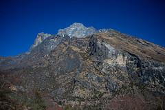 Mountain View near Phakding (Van Jans) Tags: nepal mountain landscape peak himalaya