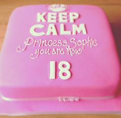Keep Calm 18th Cake