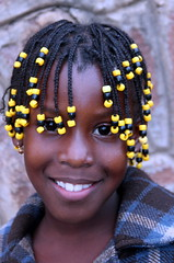 Carnival Smile (Alan1954) Tags: africa carnival santiago portrait holiday girl smile face yellow capeverde platinumpeaceaward platinumheartawarad