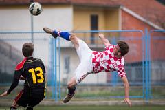 Croatia U17 - Belgium U17 (Ivan Klindić) Tags: red canon belgium euro soccer young croatia mini 300mm scissors tournament elite volley f4 uefa 6d qualification u17 sinj volleq