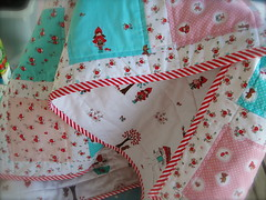 Little Red Riding Hood Baby Quilt (Swede-Heart) Tags: red baby riley quilt little handmade sewing noel riding crib hood scraps patchwork blake scrap tasha cot