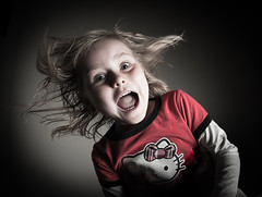 Horrified Little Girl (Dostalek Images) Tags: blue portrait white green girl beautiful face childhood lady female mouth pose person eyes hands pretty hand open adult expression feminine fear daughter young posing style fair gal human blond photograph attractive surprise horror terror expressive shock surprised yelling fearful facial shocked shocking terrifying gasp surprising caucasian terrified skinned horrified gasping horrifying