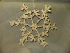 snowflake (pa-saule) Tags: snowflake christmas winter snow snowflakes crochet decoration crocheted