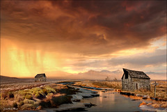 51 area (Jean-Michel Priaux) Tags: sunset sky rain clouds photoshop plane river painting landscape cabin desert ciel montage area 51 wilderness nuage nuages paysage cabane wastes priaux mygearandme photographyforrecreation