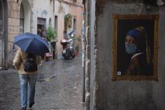 Perla. (RO.BO.COOP.) Tags: streetart roma pasteup poster smog mask urbanart pearl vermeer posterart raffaello leonardodavinci arteurbana pearlearring ermellino robocoop streetartrome