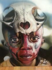 Herakut... (colourourcity) Tags: streetart graffiti awesome tribal canvas graff dope aerosol charcol hera acyrlic akut streetartmelbourne herakut themetrogallery burncity colourourcity toohightoheal