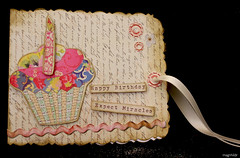 Card-coupon for going to the ballet (magnhildr) Tags: birthday ballet lake paris rose scrapbook scrapbooking swan artwork box lace crafts feather kitty cupcake card gift present scrap crafting coupon