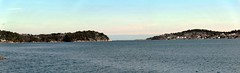 Buya, Arendal, Norway (Duncan Tait) Tags: sea panorama water norway bay coast bluesky hugin austagder canon60d