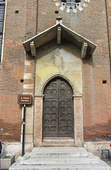 S.Pietro Martire (Jocey K) Tags: door italy building church sign architecture steps worldheritagesite verona santanastasia cosmostour6330