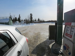 Fuel stop in Pelly Crossing, Yukon (jimbob_malone) Tags: yukon 2013 pellycrossing northklondikehighway
