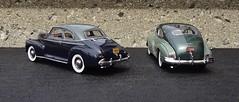 CHEVROLET DESIGN EVOLUTION - 1941 & 1948 CHEVROLET (JCarnutz) Tags: 1948 chevrolet deluxe 1941 fleetline diecast 124scale danburymint aerosedan