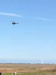 Helicopter and Antares (brownpau) Tags: nasa helicopter rocket antares wallops orbitalsciences iphone5 nasasocial