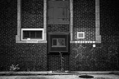 (225/366) Symmetry/Asymmetry (CarusoPhoto) Tags: chicago john caruso carusophoto pentax ks2 city urban banal mundane everyday ordinary photo day project 365 366 symmetry asymmetry prime smcpentaxda35mmf24al smc pentaxda 35mm f24 al bricks wall alley blackandwhite monochrome bw black white beautiful natural light