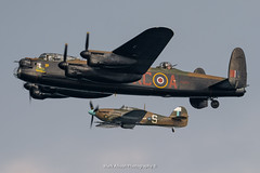 BBMF Lancaster and Hurricane (Mark_Aviation) Tags: bbmf lancaster hurricane pa474 pz865 sunderland airshow 2016 battle britain memorial flight international thumper dusk sunset sun sky blue aircraft airplane airport air aviation airbus airlines aerospace aeroplane arriving arrival plane militart jet raf royal force egnt ncl newcastle airfield seafront sea front