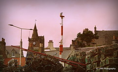 Pittenweem Parish Church (Rollingstone1) Tags: church pittenweem fife harbour boats creels scotland clock tower spire weathervane buildings outdoor urban architecture mast