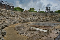 The seating and stage area of the Roman theater in Arles, France (mharrsch) Tags: theater stage architecture roman ancient arles arelate france mharrsch