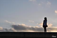 Arenys de Mar (Gatodidi) Tags: arenys de mar nubes cielo mujer sociales alturas sombras siluetas nikon d90 landscape paisaje puesta sol atardecer