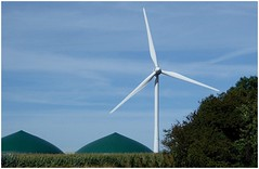 Things to come. (brian.batters (B-C-B)) Tags: windturbine anaerobicdigestion cenin ceninrenewables stormydown countryside