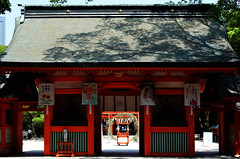 Sumiyoshi Shrine Gate 2 (pokoroto) Tags: sumiyoshi shrine gate fukuoka   kyushu  japan 8   hachigatsu hazuki leafmonth 2016 28 summer august