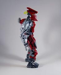 MOV - Banserko - Side (0nuku) Tags: bionicle lego toa sand fire stone banserko mazzal scythe gunblade hau komau