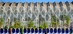 VLC, Sideview of Calatrava's L'Umbracle (gerard eder) Tags: world travel reise viajes europa europe españa spain spanien städte city ciudades calatrava santiagocalatrava valencia ciudaddelasartesyciencias cityofartsandsciences stadtderkünsteundderwissenschaften parkhaus carpark lumbracle outdoor