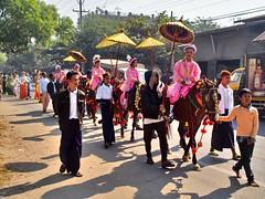 Mandalay Shinbyu procession (sharko333) Tags: travel reise voyage asia asien asie myanmar mandalay people woman man child boy horse umbrella decoration street shinbyu ceremony processionolympus em5