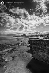Castle Bamburgh, Northumberland (Silent Eagle  Photography) Tags: sep silent eagle photography silenteaglephotography canon canoneos5dmarkiii bw monochrome shadows sky clouds beach seascape castle northumberland bamburgh outdoor iso50 silenteagle09 out northeast england