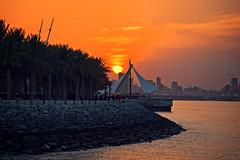 Sunset over Salmiya seaside in Kuwait City (CamelKW) Tags: kuwait2212016 sunset salmiya seaside kuwaitcity kuwait