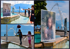 Les images qui n'apparaissent que lorsque le support est mouill / Photo are visible only if the support is wet ! (www.nathalie-chatelain-images.ch) Tags: suisse vevey exposition exhibition biennale photos images2016 immersion eau water lac lake nikon underwater