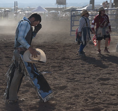defeat (jabagosus) Tags: cowboy rodeo bronc rider sonoita arizona southwest clown dirt dust d5500
