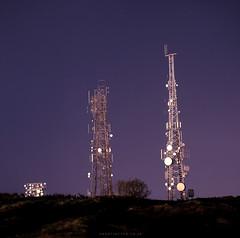 Clear Expansive Skies (martintype) Tags: night radar nightphotography nightphotographyuk nightphotographyonfilm transmitters radome film analogue dark longexposure andymartin martintype hasselblad500cm hasselblad