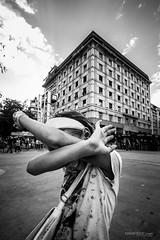 shy (Ivan Peki - www.ivanpekic.com) Tags: girl portrait shy city belgrade wide jipsy