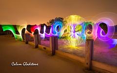 Orbing Around... (Calum Gladstone) Tags: northumberland light painting nightscape samyang canon6d