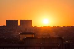 Sunset at Poelaert. (Azariel01) Tags: 2016 belgique belgie belgium bruxelles brussels coucherdesoleil sunset panorama landscape poelaert buildings batiments lumire light sky ciel color colored rays rayons