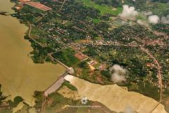 Aerial View around Ho Chi Minh City, Vietnam (fesign) Tags: aerialview architecture brown buildingexterior city cloudsky colourimage curves day hochiminhcity horizontal mekongdelta nopeople orange outdoors photography river rivermekong saigon traveldestinations vietnam