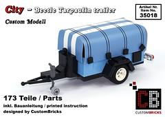 Cover_18_City_Beetle_Plane (LA-Design2012) Tags: lego custom moc city expert creator 10252 vw beetle blue edition anhnger trailer plane tarpaulin custombricks