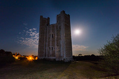 The Moon and Orford Castle (Nick_Rowland) Tags: night orford suffolk castle norman moon sky