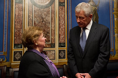 "Mikulski Meets with Secretary of Defense Nominee Chuck Hagel • <a style=""font-size:0.8em;"" href=""http://www.flickr.com/photos/32619231@N02/8452906351/"" target=""_blank"">View on Flickr</a>"