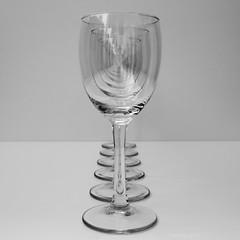 Six in a Row (Gikon) Tags: bw reflection glass monochrome nikon dof details here simplicity 1855mm simple minimalistic deptoffield disorientation gikon ringexcellence d3100 super~six