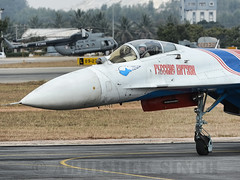 Russian KNight SU-27 Taxi In (illuminativisuals.com) Tags: airplane flying wings aircraft aviation jets flight jet aerobatics sukhoi flypass airdisplay su27 fighterjets formationflying aeroindia russianknights bangaloreairshow illuminativisuals abhisheksinghphotography aeroindia2013