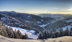 HDR Panorama #1 (Michael-Herrmann) Tags: winter sunset panorama sun snow black cold ice forest 35mm lens prime high nikon dynamic tripod melted range schwarzwald hdr exposures todtnau sdschwarzwald hasenhorn d5100 dtownmitsch