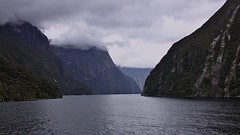 Milford Sound (oxfordblues84) Tags: cruise newzealand sky mountain water clouds scenery sailing nz sound southisland milfordsound sounds fiordland radianceoftheseas fiordlands 5photosaday newzealandfiordlands