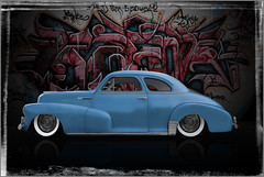 Blue Mood (bindare2) Tags: cruise cars chevrolet car digital photoshop automobile oldschool chevy american classics chopped oldcar oldcars lowered slammed americancars coolcars carart denoise customhotrod customhotrods photographicarts carartwork topazadjust topazsimplify cararts carartphotos carcustoms