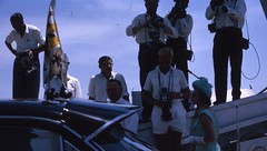 1963-03-17 Royal Tour Queen with the Press on the Ord River Diversion Dam - KHS-2011-31-124-4.59-P2-D-Crop-1 (Kununurra Historical Society) Tags: khs201131124459p2dcrop1 queenwithpress ordriverdiversiondam diversiondam press 19630317 royaltour march17th1963 queenelizabethii queen princephilip wapremierdavidbrand wapremier davidbrand kununurraairstrip ordriverirrigationarea oria ordriver kimberleyresearchstation krs csiro agriculturewa wadepartmentofagriculture agdept agriculture irrigation entomologist entomology kevinrichards kevinrichardsfamilycollection kununurra kununurrahistoricalsociety history kimberleyhistory kimberley eastkimberley shireofwyndhameastkimberley khs hylik hylitk ohia khia australia geo:lat=1579080822 geo:lon=12869874001 geotagged ivanhoeeastkimberley westernaustralia