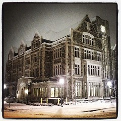 A great snowy night in Ann Arbor #annarbor #michigan #a2 #umich #snow #winterisbackagain? #whatsgoingon (bryan elkus) Tags: square lofi squareformat iphoneography instagramapp uploaded:by=instagram