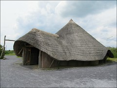 Roundhouse reconstruction, Llynnon Mill, Anglesey (pefkosmad) Tags: wales copy reproduction reconstruction roundhouse anglesey llanddeusant llynnonmill lateprehistoric