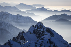 Wendelstein Mountain (Aerial Photography) Tags: alps berg by landscape mood aerial berge alpen ro mb deu luftbild luftaufnahme obb bayernbavaria deutschlandgermany bayrischzell wendelstein brannenburg alpenpanorama mangfallgebirge alpengipfel fotoklausleidorfwwwleidorfde 03032013 bayrischzellundbrannenburg 5d327587