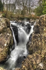Waterfall at Betws-y-coed (Gareth Christian) Tags: wales landscape waterfall nikon cymru british 1855mm betwsycoed snowdonia northwales afonllugwy afsnikkor1855mm13556giied d7000